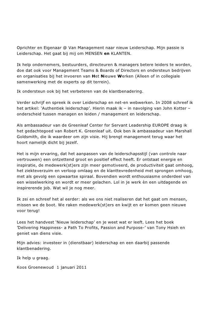 Oprichter en Eigenaar @ Van Management naar nieuw Leiderschap. Mijn passie isLeiderschap. Het gaat bij mij om MENSEN en KL...