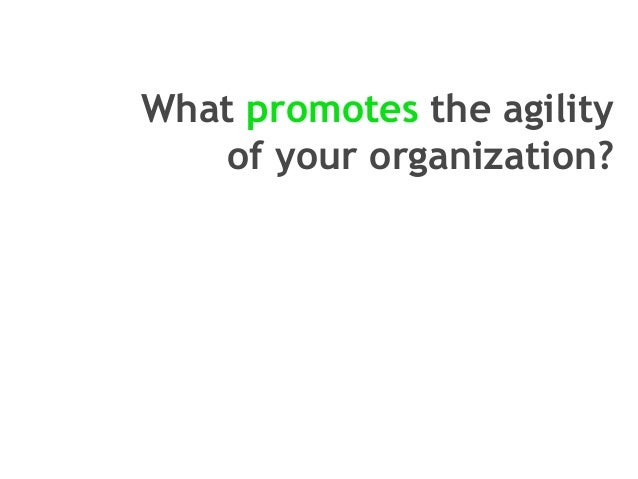 Organizational agility Slide 2