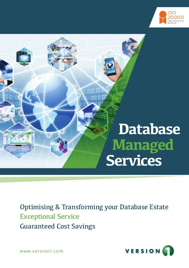 CERTIFICATION  EUROPE  Database  Managed  Services  Optimising & Transforming your Database Estate  Exceptional Service  G...