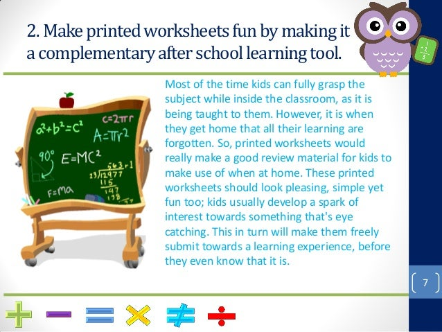 How To Make Math Fun With Printable Worksheets