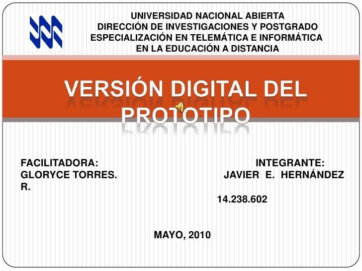 UNIVERSIDAD NACIONAL ABIERTA<br />DIRECCIÓN DE INVESTIGACIONES Y POSTGRADO<br />ESPECIALIZACIÓN EN TELEMÁTICA E INFORMÁTIC...