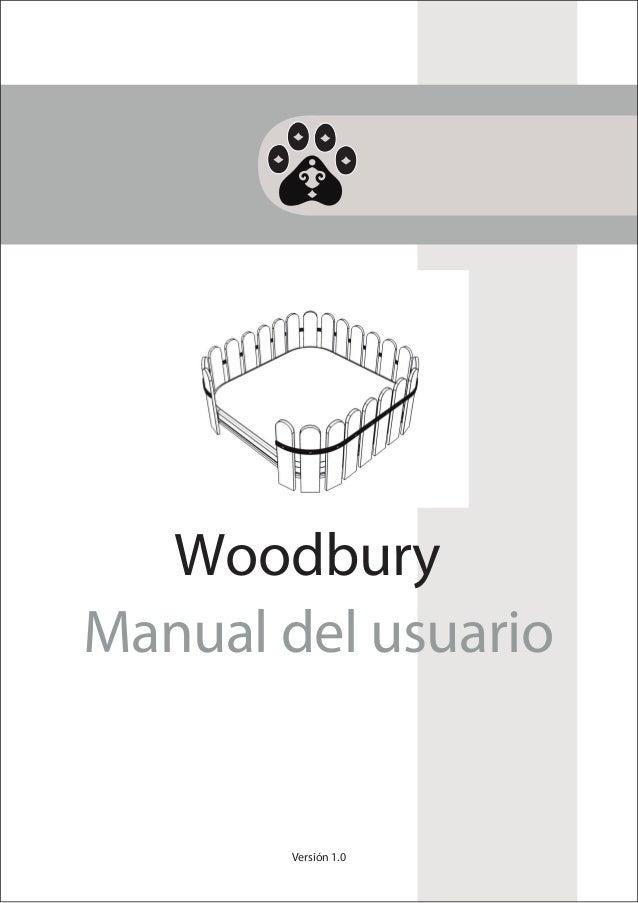 Versión 1.0Manual del usuarioWoodbury