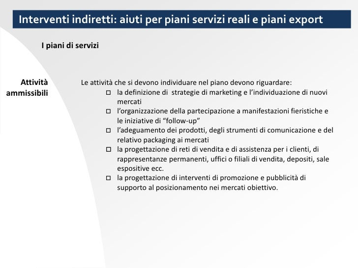 Strumenti a supporto del marketing e comunicazione dell for Gettare i piani del workshop