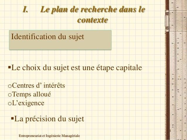 plan de recherche ForRecherche De Plan