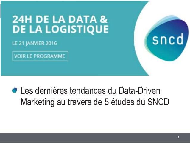 1 Les dernières tendances du Data-Driven Marketing au travers de 5 études du SNCD