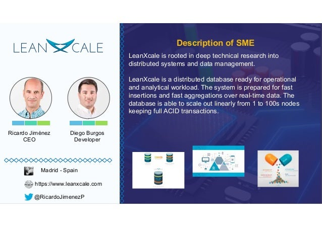 Ricardo Jiménez CEO LeanXcale is rooted in deep technical research into distributed systems and data management. LeanXcale...