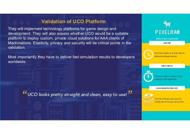 Validation of UCO Platform They will implement technology platforms for game design and development. They will also assess...