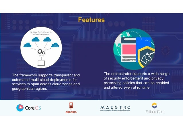 The framework supports transparent and automated multi-cloud deployments for services to span across cloud zones and geogr...
