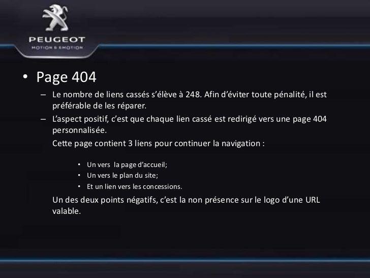 • Page 404  – L'autre point négatif, c'est la présence d'une si grande image sur la page    d'erreur. En terme d'ergonomie...