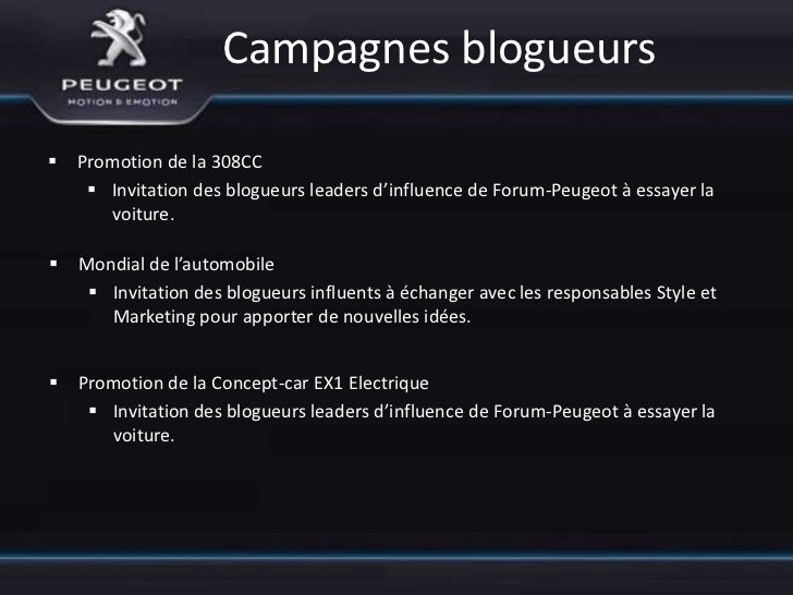 Annexe 1 - mots clefs  Peugeot et Google AdWords