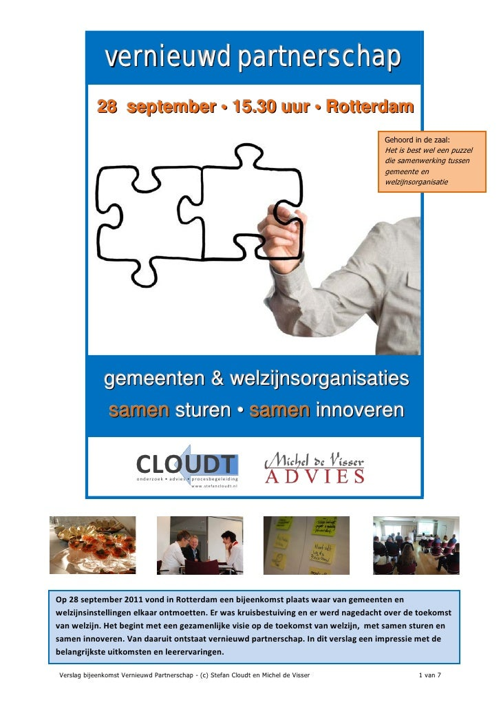 vernieuwd partnerschap            28 september • 15.30 uur • Rotterdam                                                    ...
