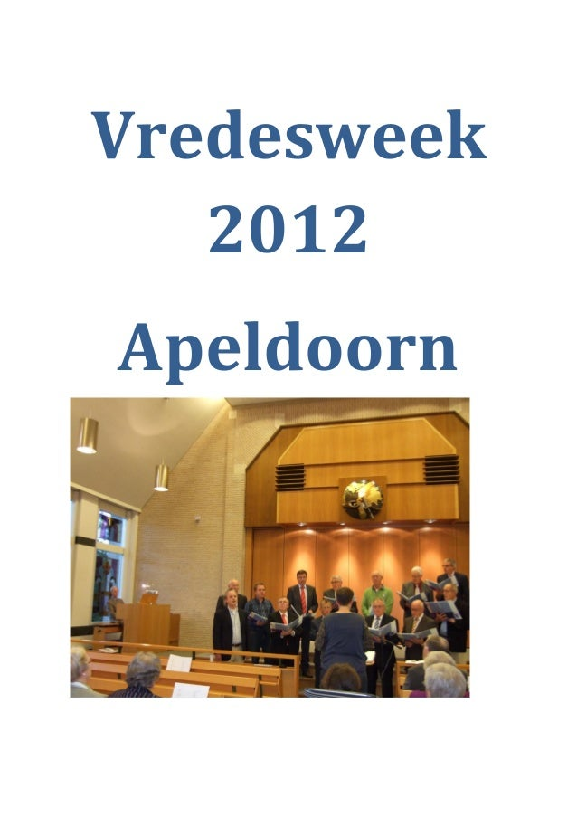 Vredesweek   2012Apeldoorn