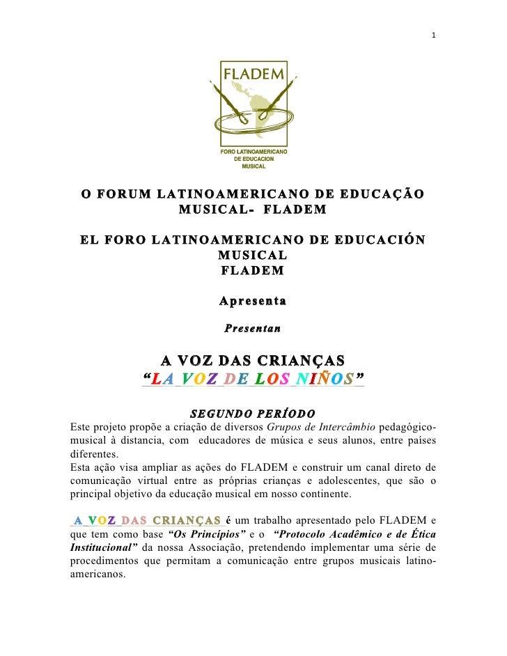 1                                                         O FORUM LATINOAMERICANO DE EDUCAÇÃO                 MUSICA...