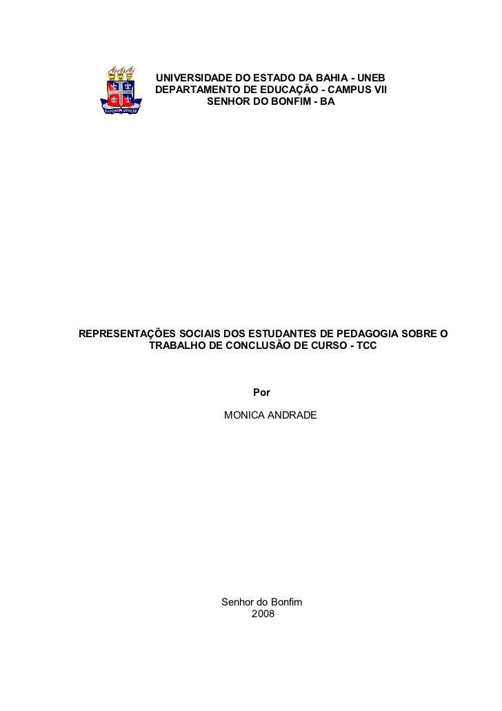 UNIVERSIDADE DO ESTADO DA BAHIA - UNEB            DEPARTAMENTO DE EDUCAÇÃO - CAMPUS VII                    SENHOR DO BONFI...