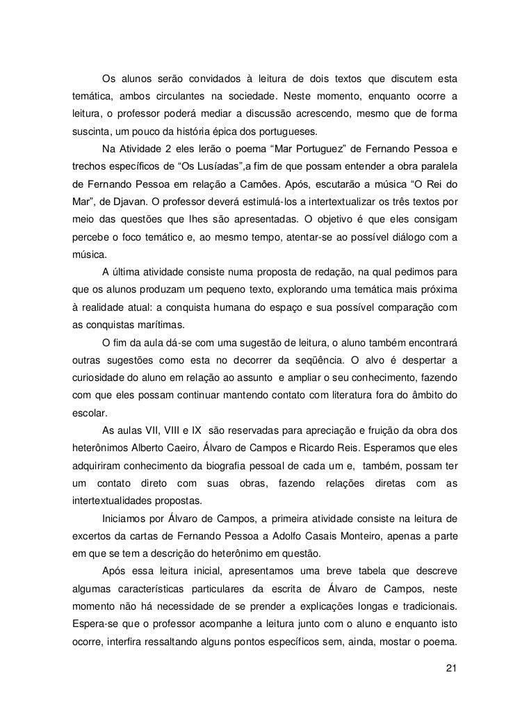 Muito Fernando Pessoa e Heterônimos: Uma proposta intertextual para o Ensin… MA11