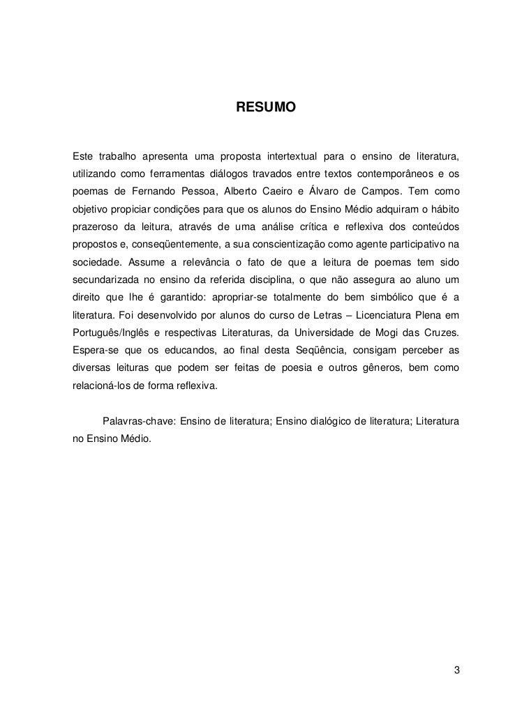 Top Fernando Pessoa e Heterônimos: Uma proposta intertextual para o Ensin… LD83