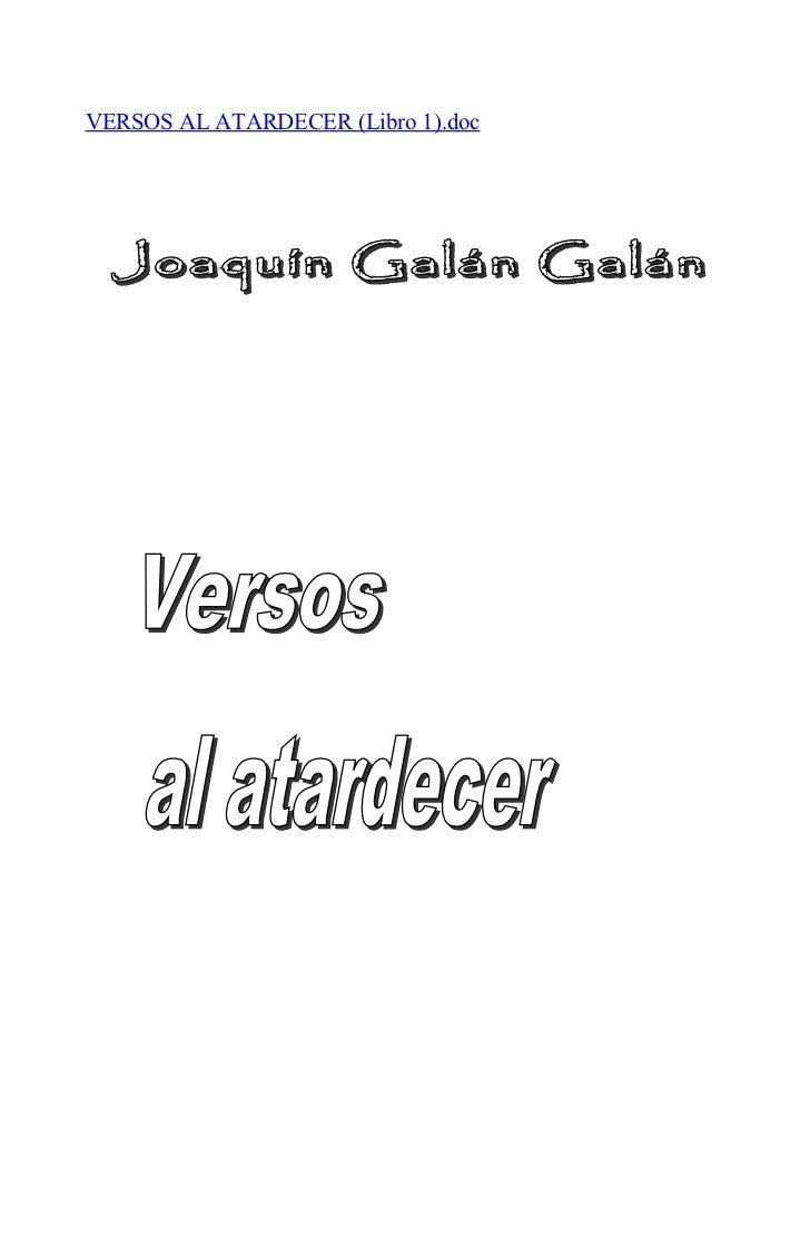 VERSOS AL ATARDECER (Libro 1).doc
