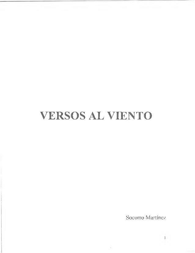 VERSOS AL VIENTO Socorro Martínez