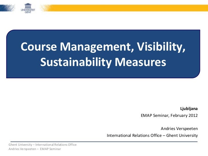 Course Management, Visibility,           Sustainability Measures                                                          ...
