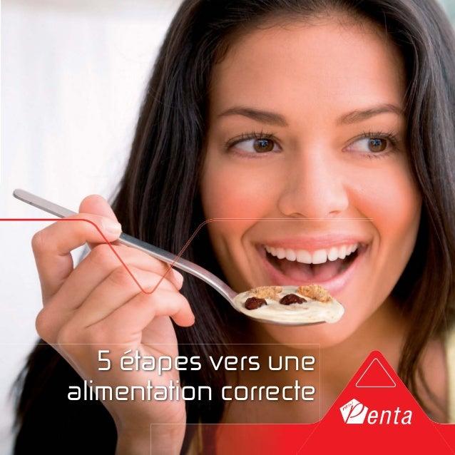5 étapes vers une  alimentation correcte