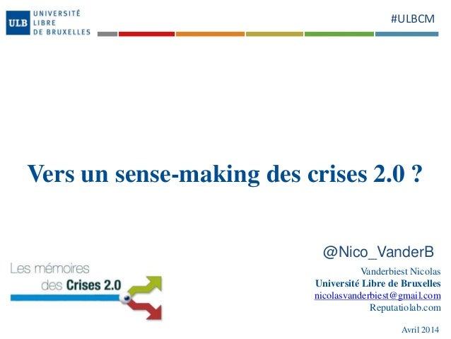 Vers un sense making des crises 2.0 ?