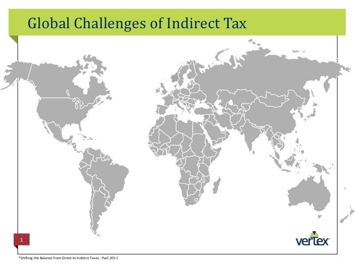 Global Challenges of Indirect Tax<br />1<br />*Shifting the Balance from Direct to Indirect Taxes - PwC 2011<br />