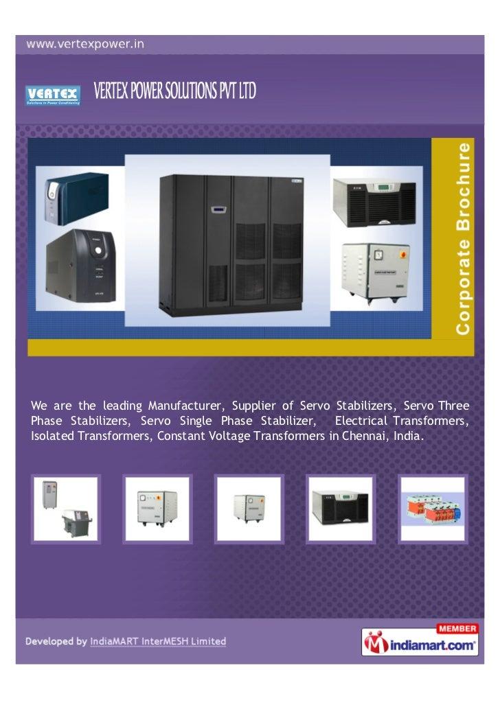 vertex power solutions pvt  chennai power control systems