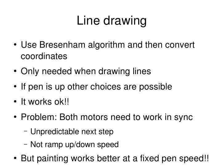 Bresenham Line Drawing Algorithm Doc : Vertical printing machine