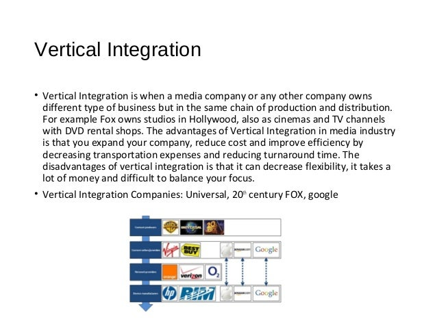 tour operator integration vertical horizontal Horizontal integration is when two companies at the same stage of the production   vertical integration occurs when firms at different stages of the production.
