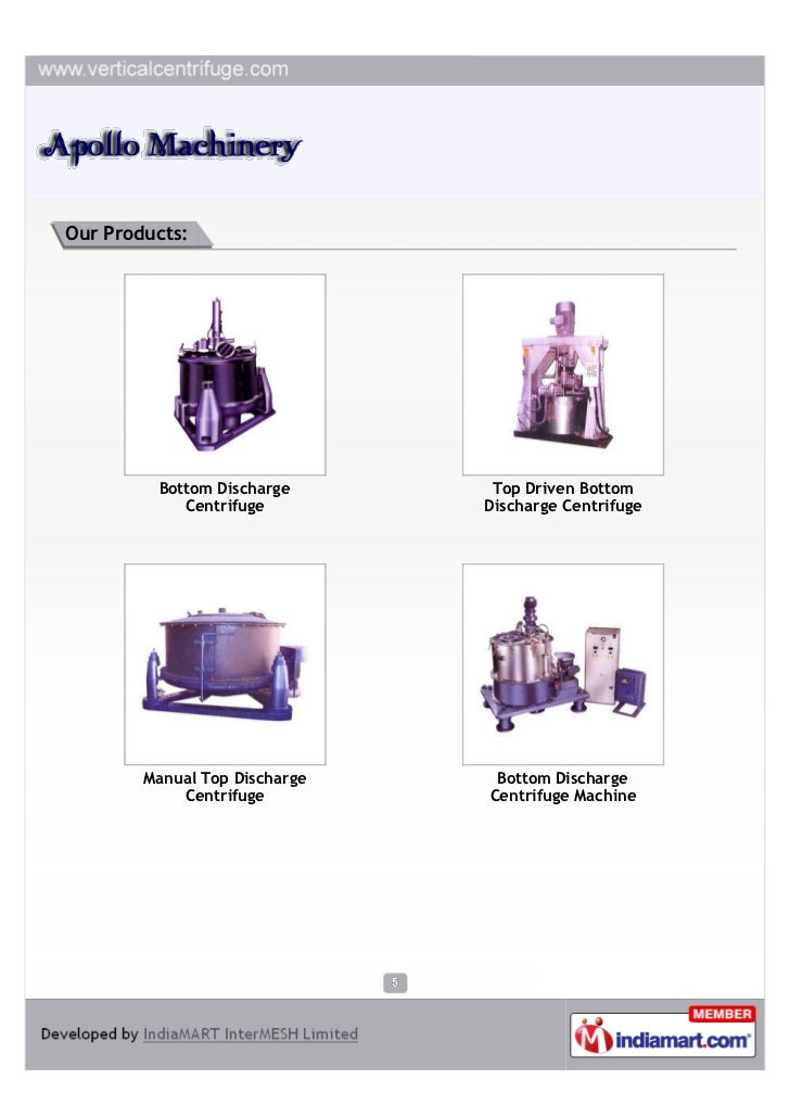 Our Products:         Bottom Discharge       Top Driven Bottom            Centrifuge         Discharge Centrifuge        M...