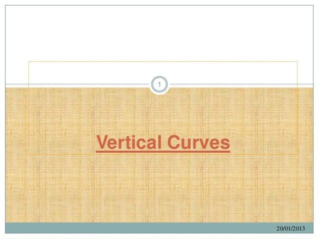 1Vertical Curves                  20/01/2013