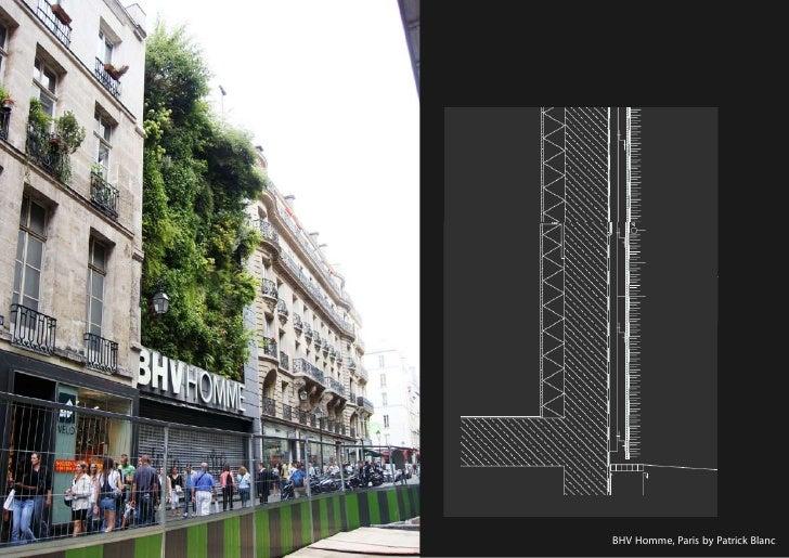 vertical greening systems   stephanie gautama   BHV Homme, Paris by Patrick Blanc