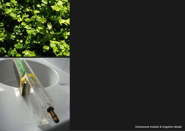 vertical greening systems   stephanie gautama   Grünewand module & irrigation details