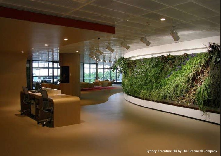 vertical greening systems   stephanie gautama   Sydney Accenture HQ by The Greenwall Company