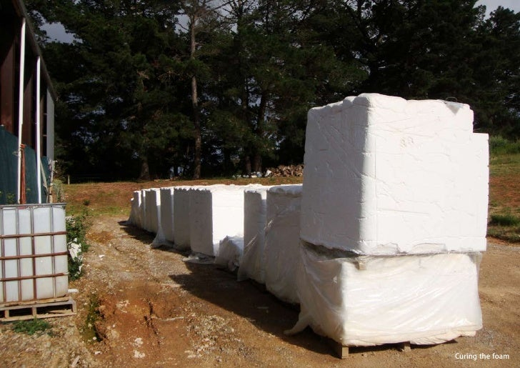 vertical greening systems   stephanie gautama   Curing the foam