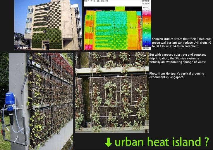 Shimizu studies states that their Parabienta                                                        green wall system can ...