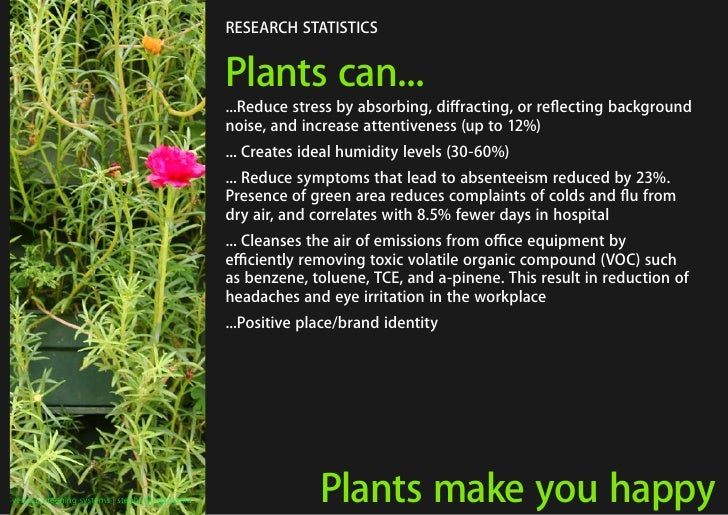 RESEARCH STATISTICS                                                   Plants can...                                       ...