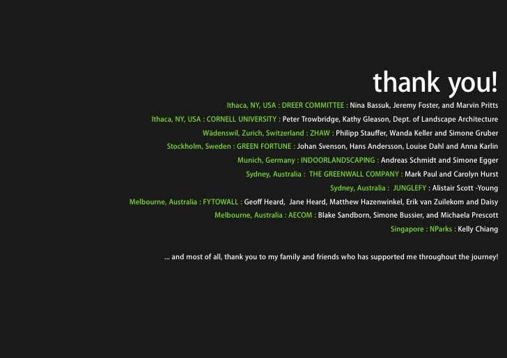 thank you!                             Ithaca, NY, USA : DREER COMMITTEE : Nina Bassuk, Jeremy Foster, and Marvin Pritts  ...