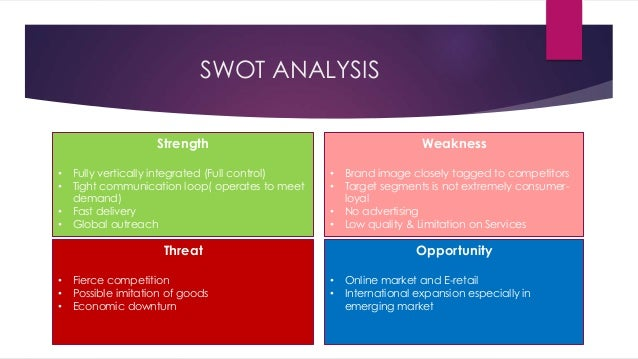 zara fashion swot In accordance with the exceptional business performance of zara in the fast fashion apparel zara swot analysis one of the core strengths is the ability to.