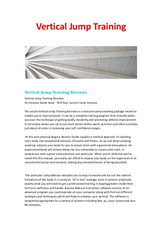 Vertical Jump TrainingVertical Jump Training ReviewsVertical Jump Training ReviewsAn increase Guide book - Will Your curre...