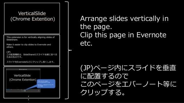 vertical slideshare chrome extention