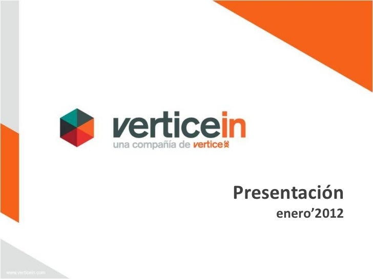 Presentación    enero'2012