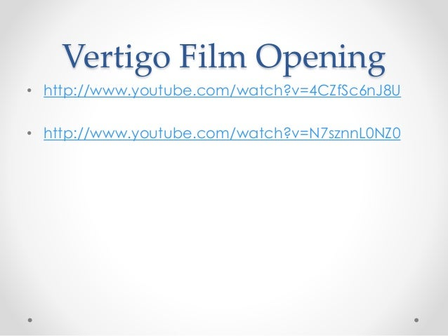 a film analysis of vertigo The film, vertigo (1958) directed by alfred hitchcock, is classified as a genre combination of mystery, romance, suspense and thriller about psychological obsession.