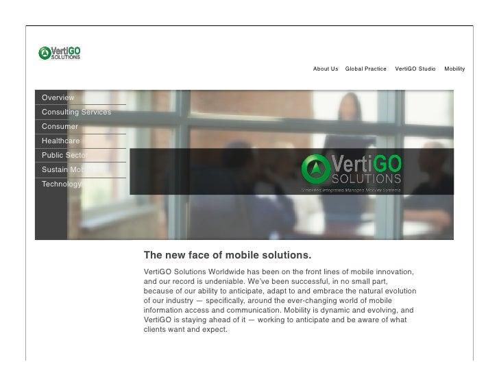 About Us   Global Practice   VertiGO Studio   Mobility    Overview Consulting Services Consumer Healthcare Public Sector S...