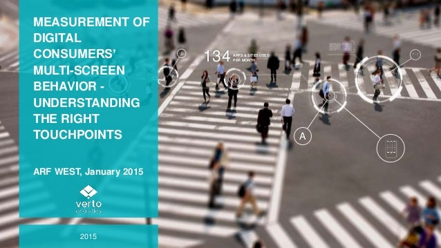 MEASUREMENT OF DIGITAL CONSUMERS' MULTI-SCREEN BEHAVIOR - UNDERSTANDING THE RIGHT TOUCHPOINTS ARF WEST, January 2015 2015 ...