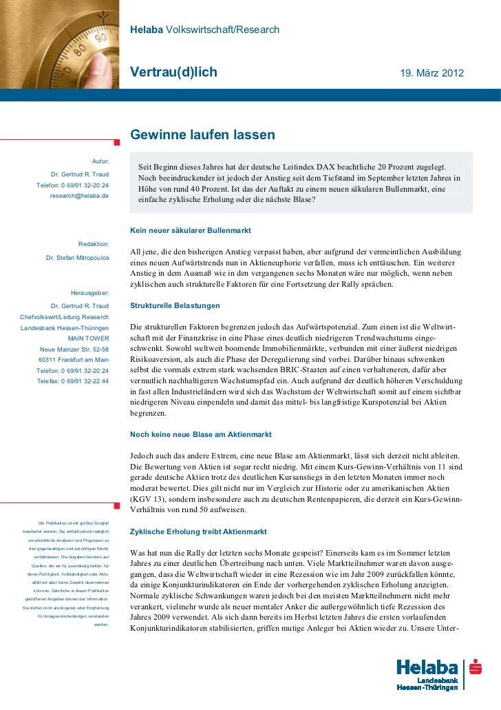 Helaba Volkswirtschaft/Research                                                   Vertrau(d)lich                          ...