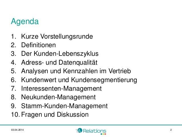 Vertrieb muss am Kundenwert orientiert sein Georg Blum_bwcon_20140402 Slide 2