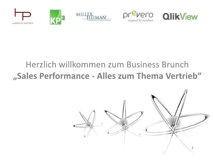 """Herzlich willkommen zum Business Brunch""""Sales Performance - Alles zum Thema Vertrieb"""""""