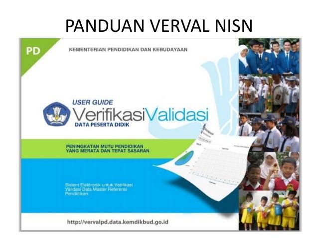 PANDUAN VERVAL NISN