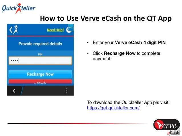 How to Use Verve eCash on the QT App • Your transaction is successful! To download the Quickteller App pls visit: https://...